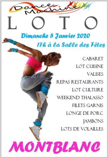 Affiche loto 5 janvier 2020